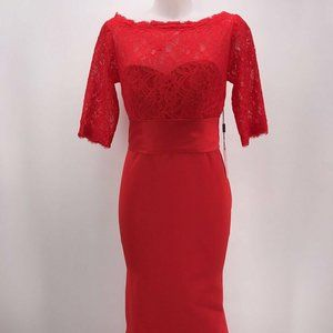 NWT JJ's Ho use Red Evening Gown Size XS